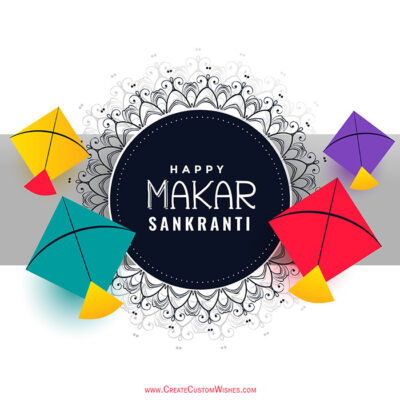 Making Makar Sankranti Image for Whatsapp