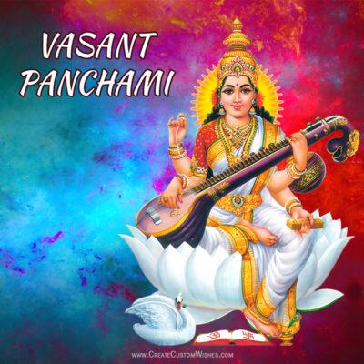 Making Vasant Panchami Image for Whatsapp