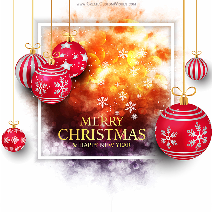 Christian Card Merry Christmas And Happy New Year 2021 Merry Christmas Happy New Year 2021 Greeting Card Create Custom Wishes