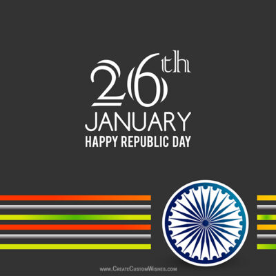Republic Day Greeting with my Name