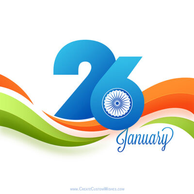 Republic Day Pic with Name and Logo