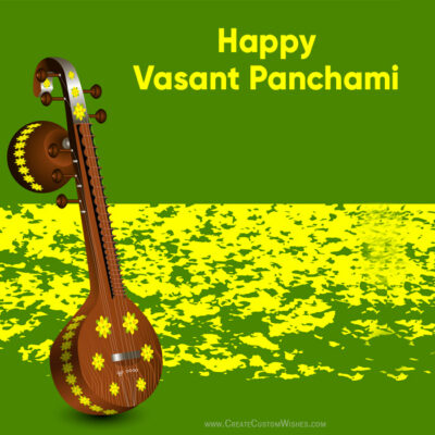 Vasant Panchami Image with my Name