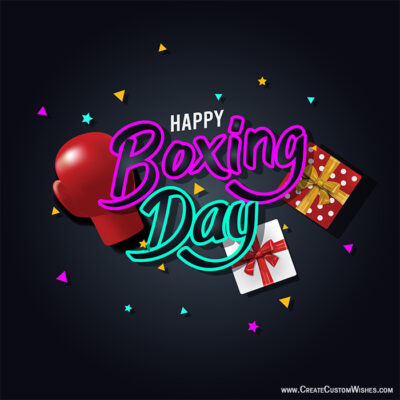 Write Text on Boxing Day Image