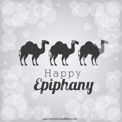 Write Text on Epiphany Image