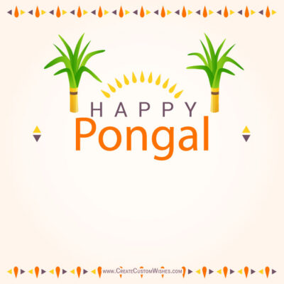 Write Text on Happy Pongal Image