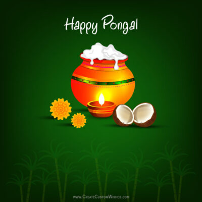 Write Your Name on Happy Pongal Image