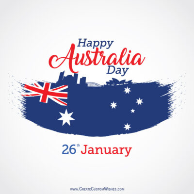 Write my Name on Australia Day Wishes Image