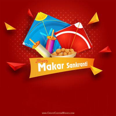 Write my Name on Makar Sankranti Wishes Images