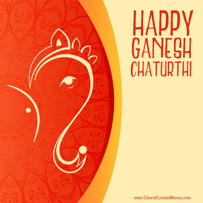 Add Logo on Ganesh Chaturthi Image Online