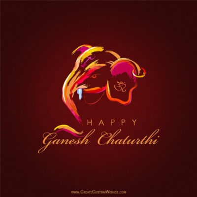 Add Name on Happy Ganesh Chaturthi Image
