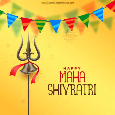 Add Name on Maha Shivratri Wishes Image