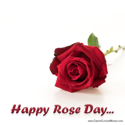 Add Name on Rose Day Wishes Image