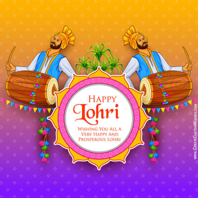 Customized Happy Lohri Wishes Images