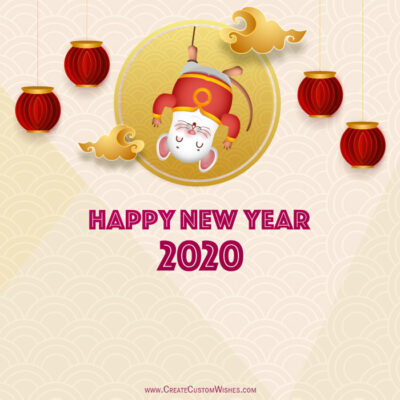 Editable Chinese New Year Greeting Cards