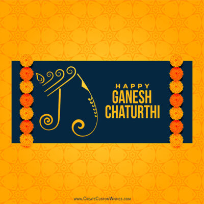 Editable Ganesh Chaturthi 2021 Wishes Card