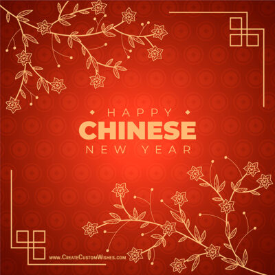 Happy Chinese New Year Greeting Card Maker