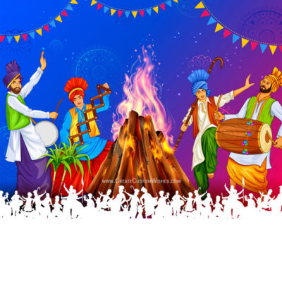 Happy Lohri Image with Name and Photo
