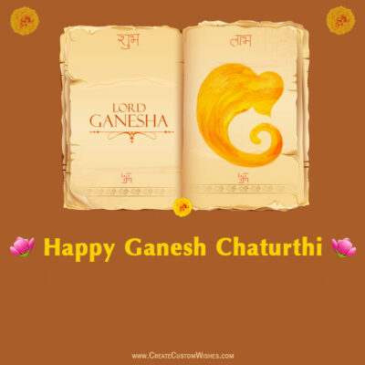 Personalize Ganesh Chaturthi Wishes Card Online