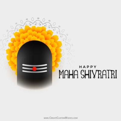 Write Text on Happy Maha Shivratri Image