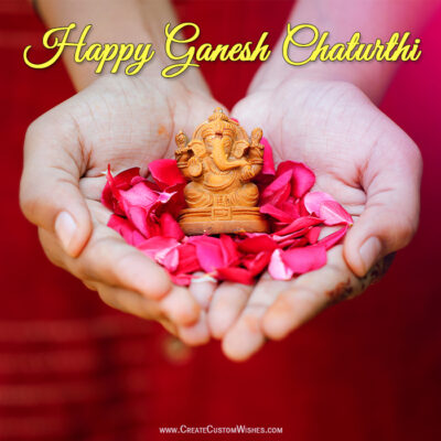 Write Your Name on Ganesh Chaturthi Card