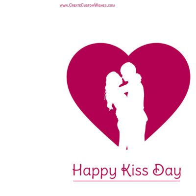 Add Name on Happy Kiss Day Image