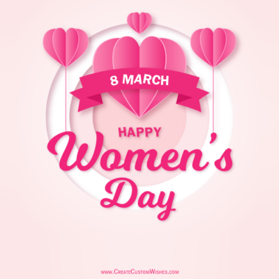 Add Name on Happy Women's Day Image