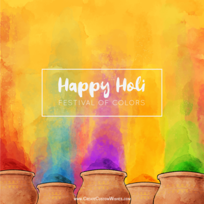 Colorful Happy Holi Image Editor
