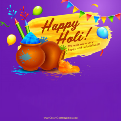 Create Custom Holi Image with Name
