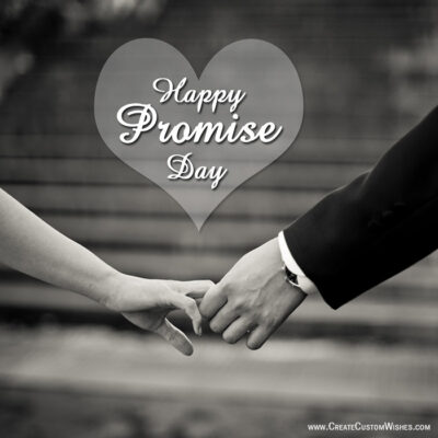 Free Customize Promise Day Wishes Card