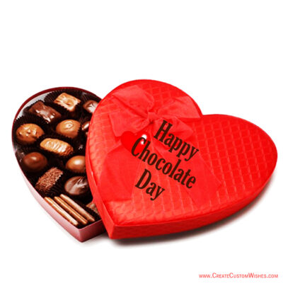 Happy Chocolate Day mage Editing with Name