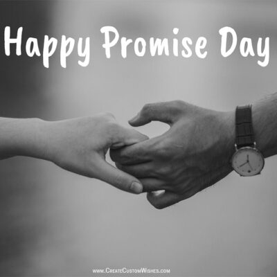 Promise Day Greeting card with Name
