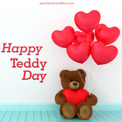 Write Text On Happy Teddy Day Image
