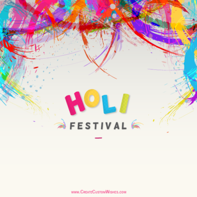 Online Editable Holi Wishes Images