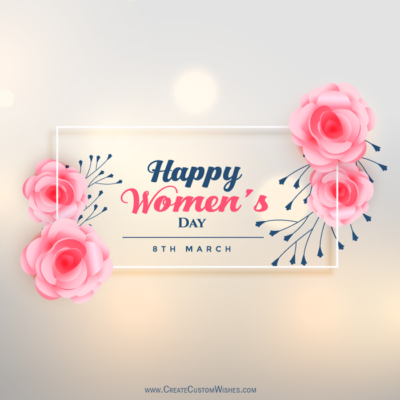 Women's Day Wishes Image with Name