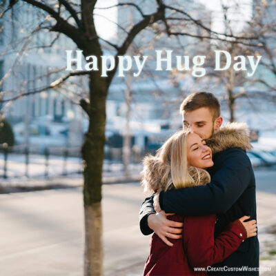 Happy Hug Day With Image