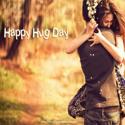 Happy Hug Day With Partner Image