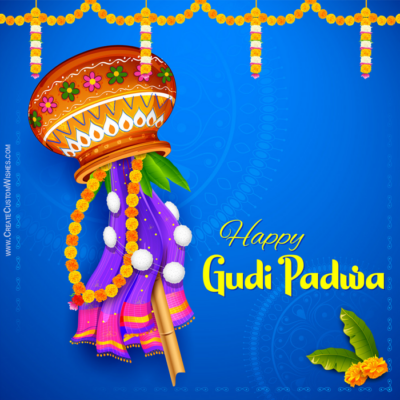 Add Name & Photo on Gudi Padwa Wishes Card