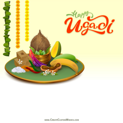 Add Name & Photo on Ugadi Wishes Image