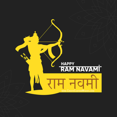 Add Name & Photo Happy Ram Navami Image