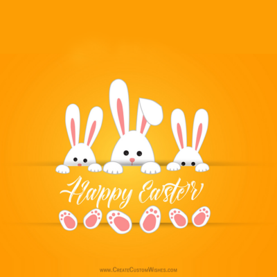 Add Name & Photo on Easter Day Image