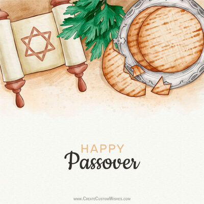 Add Name & Photo on Happy Passover Image