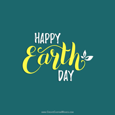 Add Name & Text on Happy Earth Day Image