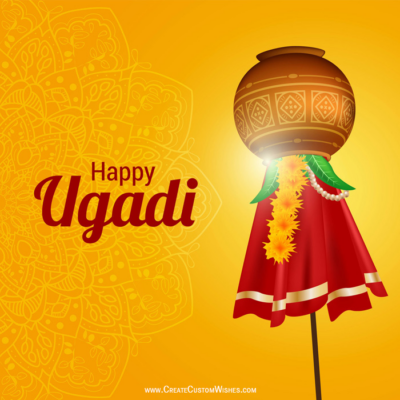 Create Custom Happy Ugadi Wishes Cards