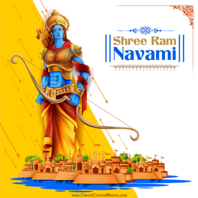 Create Ram Navami Greeting card with Name