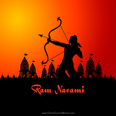Customized Happy Ram Navami Wishes Image