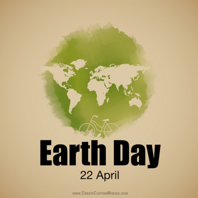 Editable Earth Day Greeting Card Online
