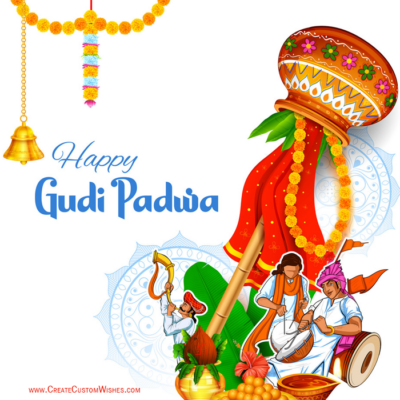 Editable Gudi Padwa Greeting Card Online