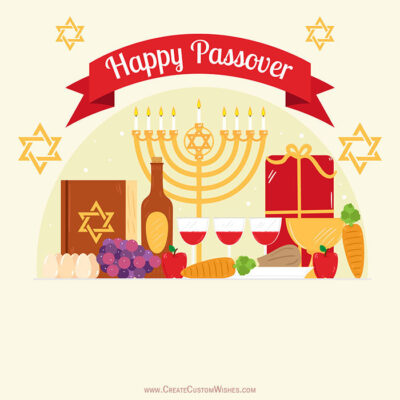 Free Create Happy Passover Image with Name