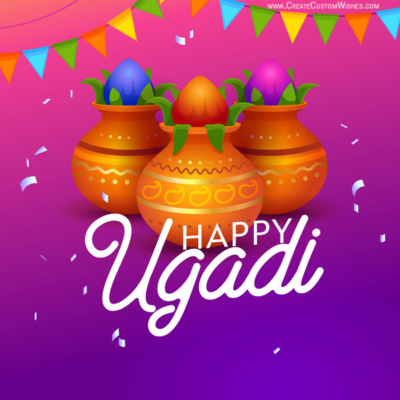 Free Make Happy Ugadi Image with Name