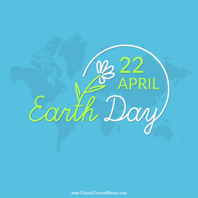Make Happy Earth Day Image with Name